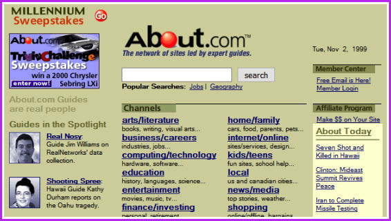 About.com screenshot.
