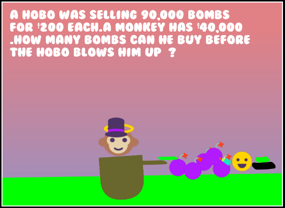 Kids love bombs. Almost as much as poop.